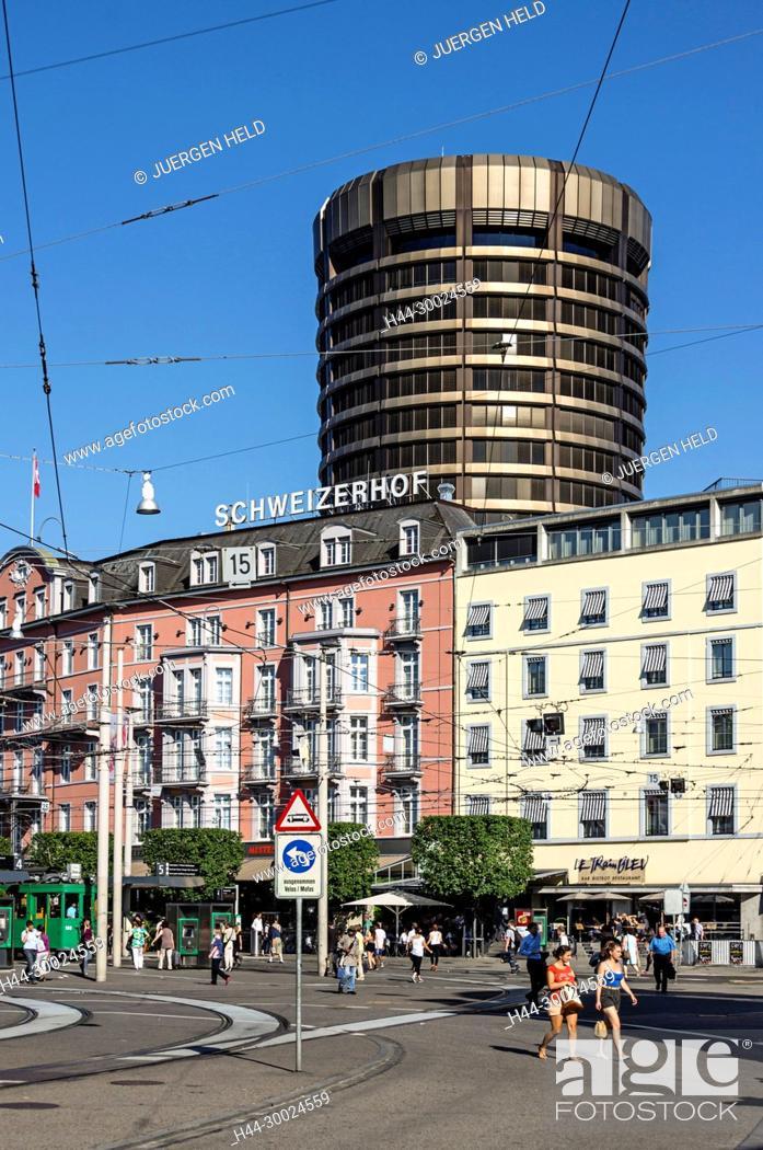 Central Station Square Hotel Schweizerhof Tram Basel