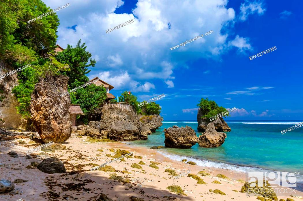 Impossible Beach In Bali Indonesia Nature Vacation Background Stock Photo Picture And Low Budget Royalty Free Image Pic Esy 027532385 Agefotostock