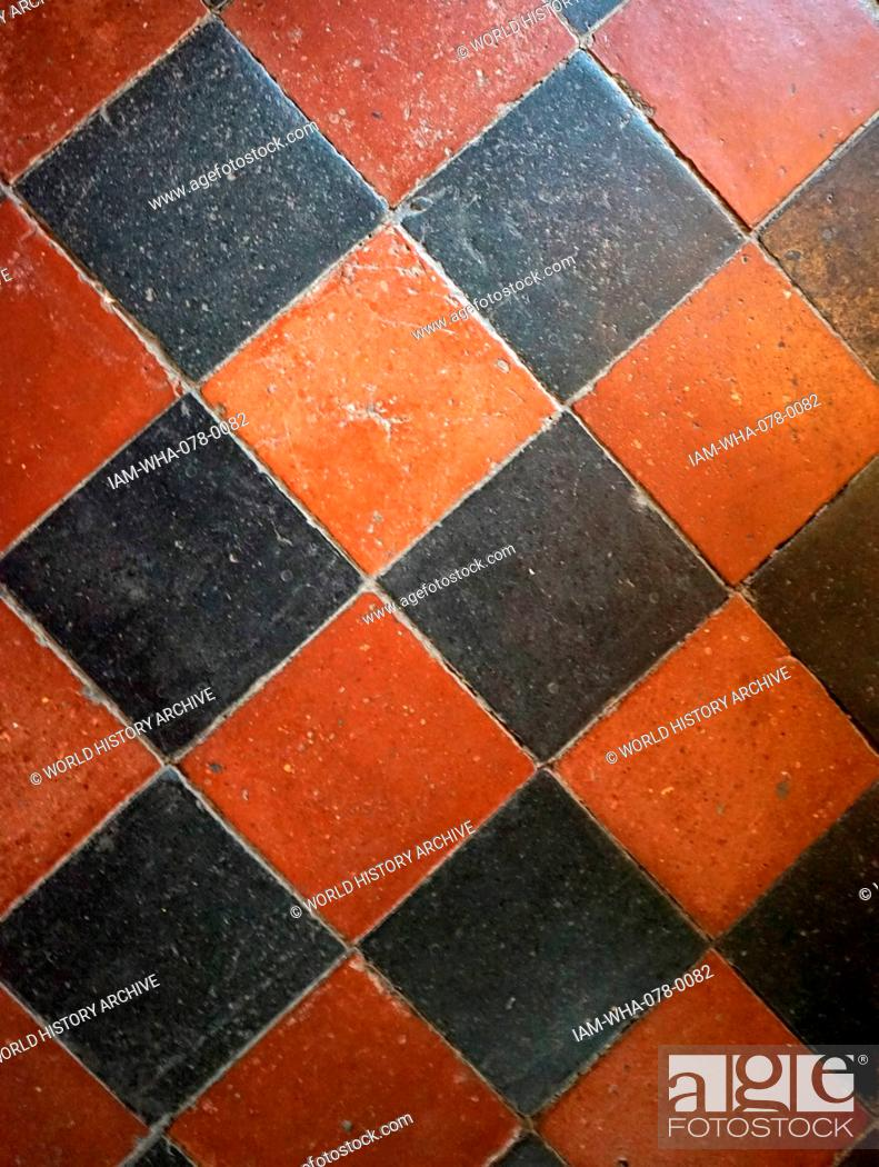 https www agefotostock com age en details photo 17th century tiles on the floor of a passageway at baddesley clinton a moated manor house located just north of the historic town of warwick in the english iam wha 078 0082