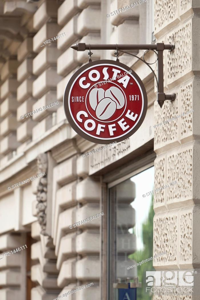 costa coffee logo sign