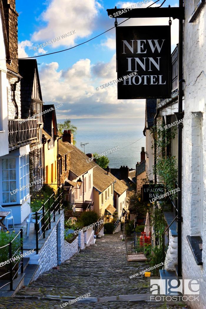 England Devon Clovelly New Inn Hotel On Clovelly S Steep