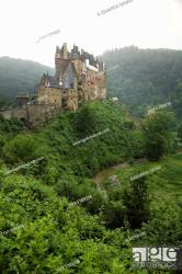 Eltz castle With countless gables and overhangs roofs and towers stacked Stock Photo Picture And Rights Managed Image Pic YV7 1709336 agefotostock