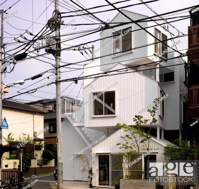 Stock Photo Tokyo Apartment An Sou Fujimoto Architects Overall Street View Architect2010