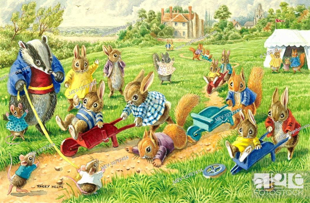 the wheelbarrow race rabbits