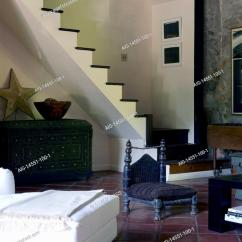 Open Plan Staircase In Living Room Small Fireplace Ideas Terracotta Floor With Home Of Stock Photo Francine Gardner Stamford Fairfield County Connecticut Usa