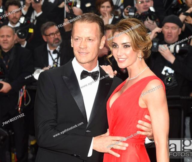Stock Photo Italian Actor Rocco Siffredi And Partner Rosa Arrive For The Screening Of Money Monster During The 69th Annual Cannes Film Festival At