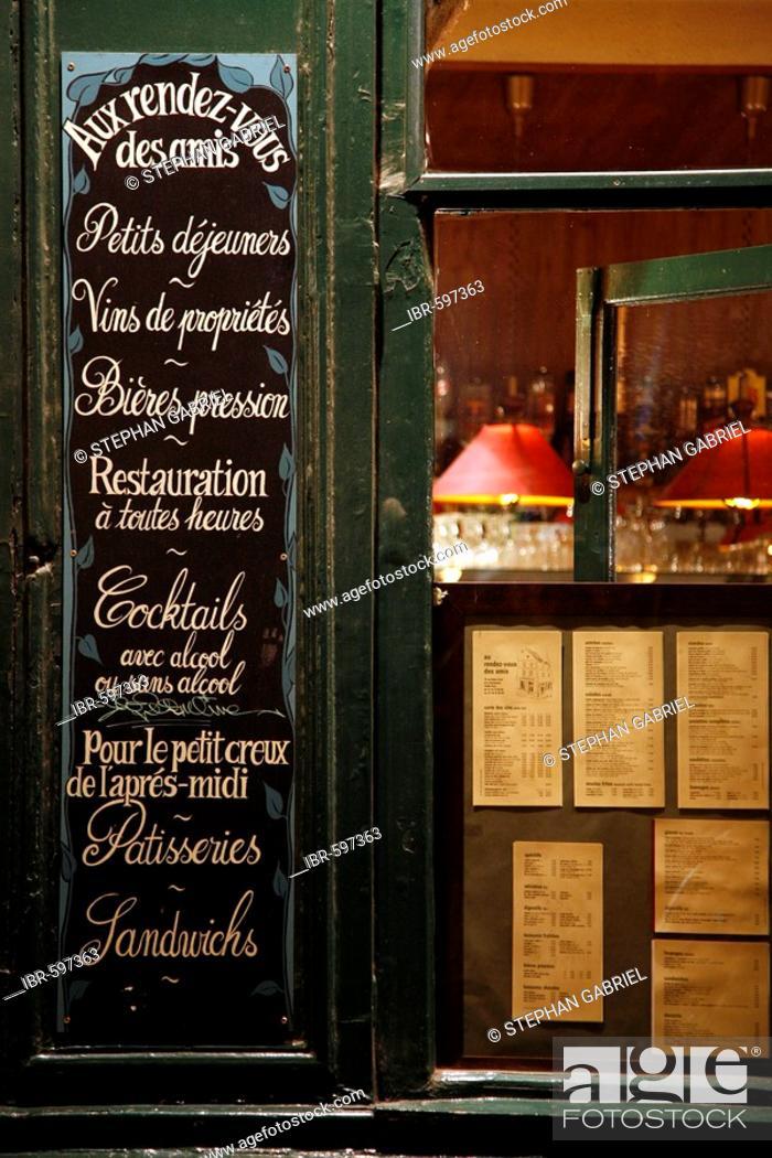 Le Rendez Vous Des Amis : rendez, Bistro, Rendez-vous, Amis,, Quartier, Marais,, Paris,, France,, Europe,, Stock, Photo,, Picture, Rights, Managed, Image., IBR-597363, Agefotostock