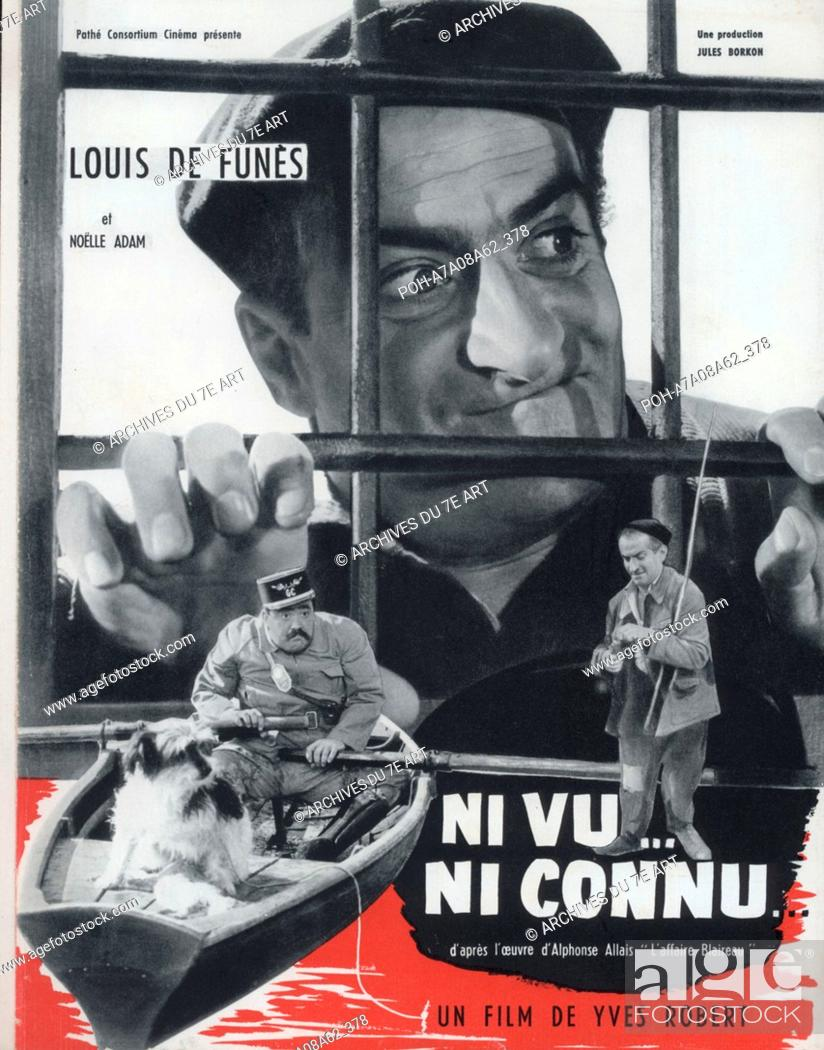 Ni Vu, Ni Connu : connu, Connu, Year:, France, Affiche,, Poster, Louis, Funès, Director, Robert, Photo:...,, Stock, Photo,, Picture, Rights, Managed, Image., POH-A7A08A62_378, Agefotostock