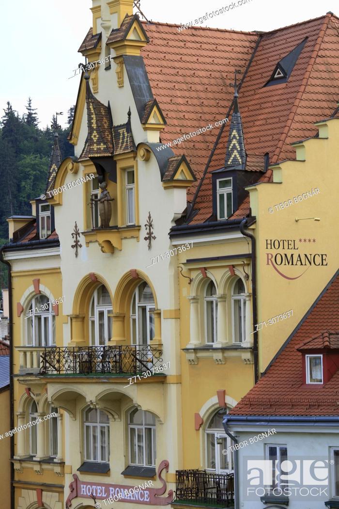 Czech Republic Karlovy Vary Hotel Romance Puskin Stock