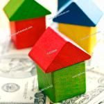 House Made From Wooden Toy Blocks On Dollars Stock Photo Picture And Royalty Free Image Pic Wr1676162 Age Fotostock