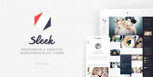 Sleek - Responsive & Creative WordPress Blog Theme