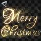 Christmas And New Year Elegant Handwriting Text