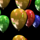 Color balloons loop with transparency