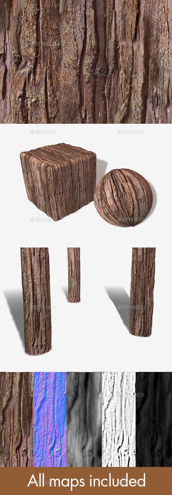 Red Tree Bark Seamless Texture