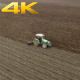 Aerial Tractor Working Field