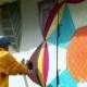 Urban Art - Guy Drawing Graffiti On Wall