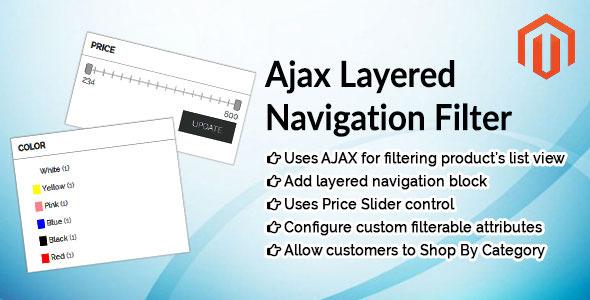 Ajax Layered Navigation Filter