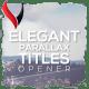 Elegant Parallax Titles Opener