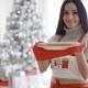 Young Woman Baking Christmas Treats
