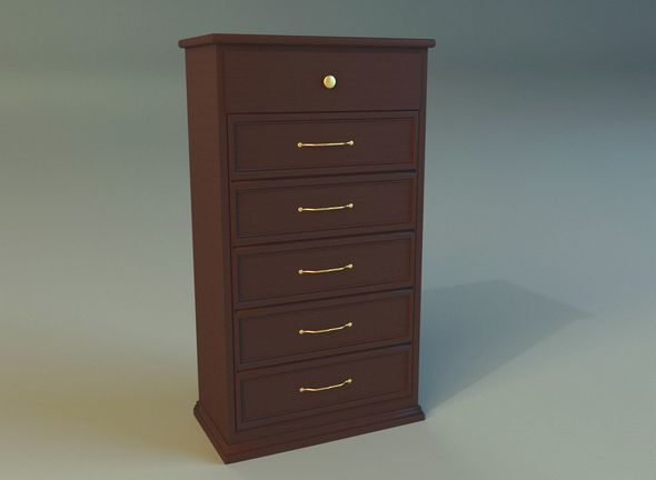 Old commode drawers dark