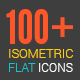 3D Isometric Flat Icons Pack