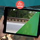 Mocup Rocky Cliff Waves Real Video Mockup iPad