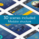 Minimal 3D Mobile App Presentation