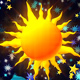 Kids Party Cartoon Space Background