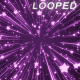 Purple Glowing Stars Background