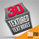 3D Textured Text Boxes