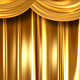 Gold Curtains Open