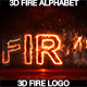 Fire Alphabet And Logo 3D