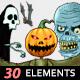 Halloween Horror Theme 30 Elements