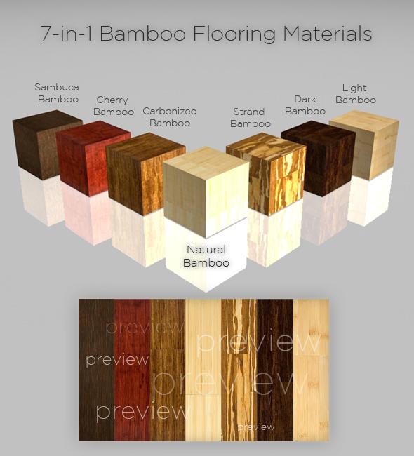 7-in-1 Bamboo Flooring Materials