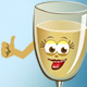 Сartoon Bottle and Glass Champagne Animation Pack 32