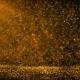 Golden Ambient Particles Background