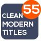 55 Modern Titles