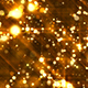 Abstract Golden Particles Glitter Background
