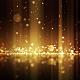 Golden Glitter Drops