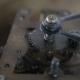 Old Stopwatch Clock Gears Mechanism with Tick-Tick Sound