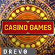 Casino Games/ Poker Champions/ Online Roulette Intro/ Slot Machine and Money Win/ App on Smartphone