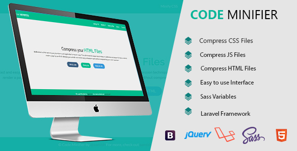 , Code Minifier – Compress CSS JS & HTML Files, Laravel & VueJs