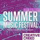 Summer Music Festival / Dance Event Promo / EDM Party Invitation / Night Club