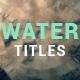 Water Ripple Rain Titles