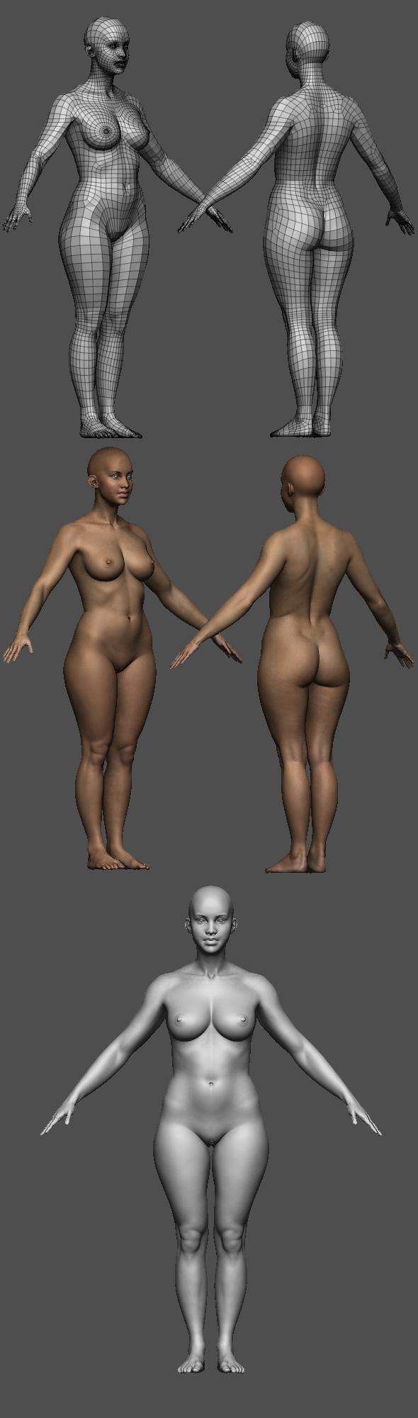 Realistic Female body