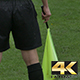 Footbal Referee with Flag