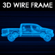 Pickup Truck 3D Wireframe