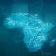 Globalization Africa Map Animation 4K