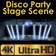 Disco Party Stage With Spotlights