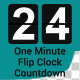 One Minute Flip Clock Countdown